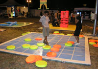 giant glow checkers